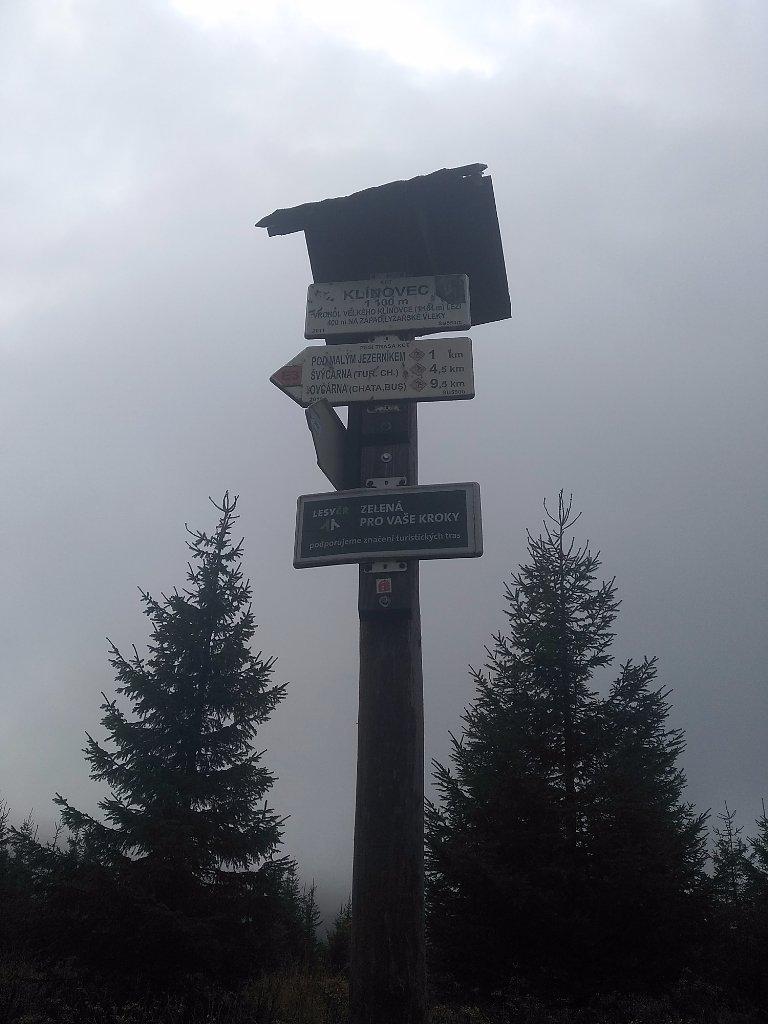 Šárka na vrcholu Velký Klínovec (29.9.2018 10:03)