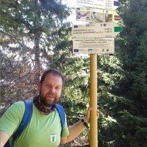 Petr Zajac na vrcholu Uhorská (26.4.2020 9:30)