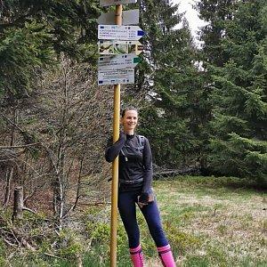 Aneta Gabzdylová na vrcholu Uhorská (17.5.2020)