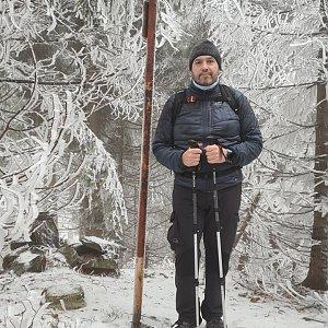 Jiří Gryz na vrcholu Uhorská (20.12.2020 11:26)