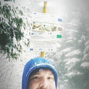 Jakub Špaček na vrcholu Uhorská (30.12.2020 12:47)