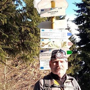Lojza Žáček na vrcholu Uhorská (21.2.2021 14:51)