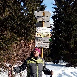 Nuny na vrcholu Uhorská (21.2.2021 18:15)