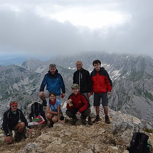 Jarda Vála na vrcholu Bobotov Kuk (14.7.2014 13:50)