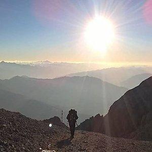 Martin Malý na vrcholu Hochkönig (13.10.2018 18:00)