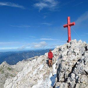 Iveta Válová na vrcholu Großer Priel (4.9.2020)
