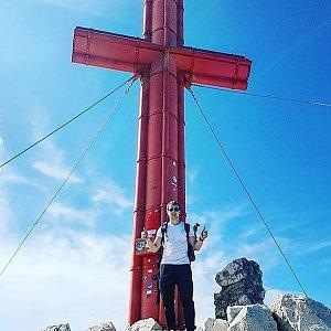 Martin Malý na vrcholu Großer Priel (28.7.2018 16:15)