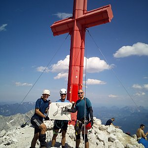 Martin na vrcholu Großer Priel (6.7.2019 14:10)