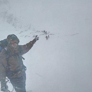 Mikeš na vrcholu Großer Priel (25.11.2017 11:06)