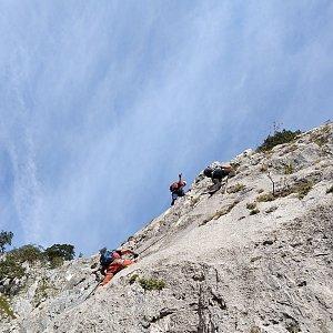 Léňa Manová na vrcholu Drachenwand (22.9.2019 10:45)
