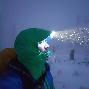 Marek Feest na vrcholu Großer Rachel (9.12.2018)