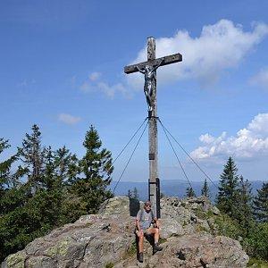 Jarda Vála na vrcholu Roklan / Großer Rachel (13.8.2020 12:50)