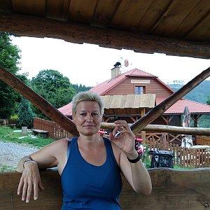 karina gasova na vrcholu Kamenitý - horská chata (30.8.2019 14:40)