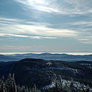 Jenda na vrcholu Großer Arber / Velký Javor (14.1.2020 11:25)