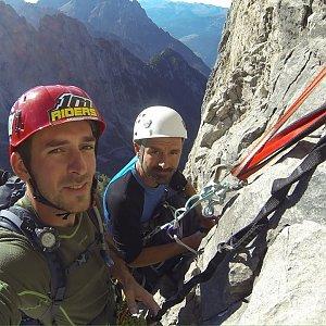 Mikeš na vrcholu Kleine Lazerwand (30.9.2018 10:00)