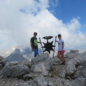 Mikeš na vrcholu spitzmauer (24.7.2018 15:00)