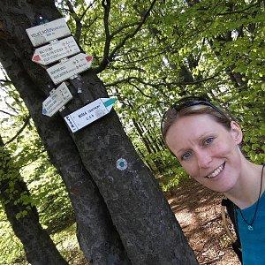 Michaela Karásková na vrcholu Velký Sošov (8.5.2020 16:09)