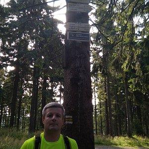 Vítězslav Vrána na vrcholu Kobylanka (2.8.2019 8:53)
