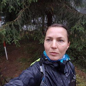 Marcela Kubíčková na vrcholu Kobylanka (5.10.2019 9:05)