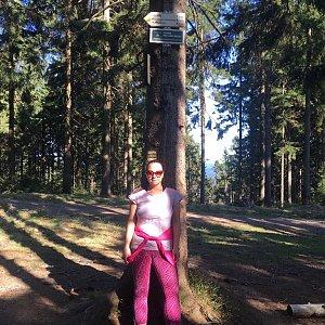 Veronika Pastorková na vrcholu Kobylanka (21.4.2018 16:21)