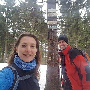 Marcela Kubíčková na vrcholu Kobylanka (18.1.2020 12:37)