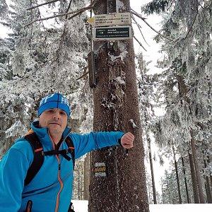 Vítězslav Vrána na vrcholu Kobylanka (15.2.2020 10:40)