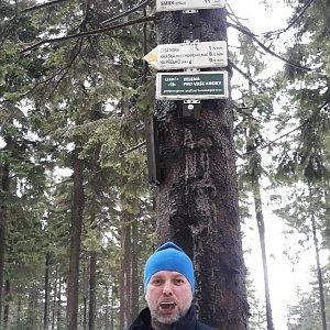 Ladislav Farý na vrcholu Kobylanka (2.2.2020 11:37)