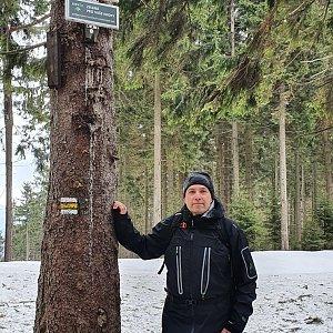 Jiří Gryz na vrcholu Kobylanka (14.3.2020 9:39)