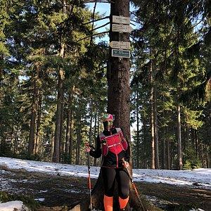 Kateřina Turčeková na vrcholu Kobylanka (27.3.2020 15:00)