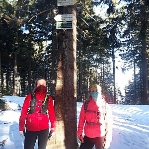 Radka na vrcholu Kobylanka (1.4.2020 16:30)