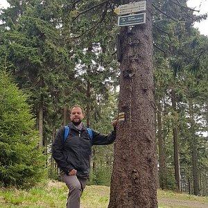 Petr Zajac na vrcholu Kobylanka (5.5.2020 16:25)