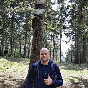 Tomáš Mucha na vrcholu Kobylanka (8.5.2020 11:00)