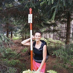 Aneta Gabzdylová na vrcholu Kobylanka (12.6.2020 9:28)