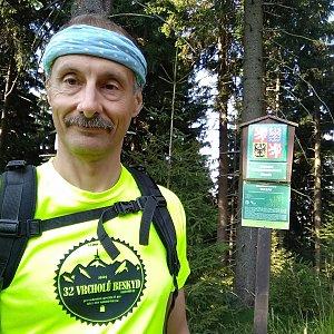 Jiří Sumbal na vrcholu Kobylanka (18.8.2018 8:59)