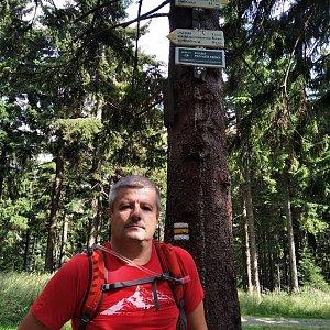 Vítězslav Vrána na vrcholu Kobylanka (11.8.2020 15:01)
