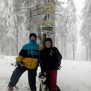 Nikol Podesvova na vrcholu Kobylanka (27.1.2019 11:40)