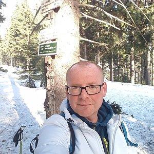 Milan Meravy na vrcholu Kobylanka (19.2.2019 14:25)