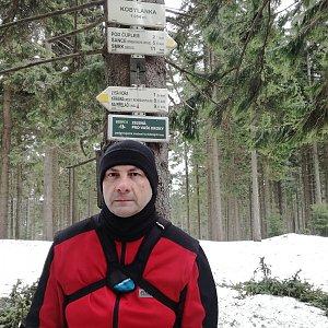 Jiří P na vrcholu Kobylanka (9.3.2019 11:06)