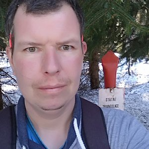 Michal Krčmář na vrcholu Kobylanka (23.3.2019 13:25)