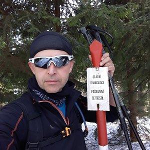 Pavel Skřičík na vrcholu Kobylanka (30.3.2019 13:35)
