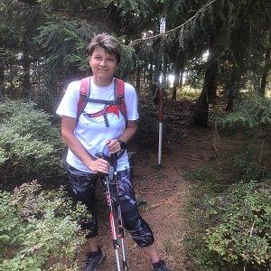 Radka Dubská na vrcholu Kobylanka (14.9.2021 10:40)