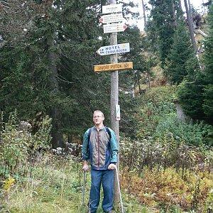 Mountainer na vrcholu Slatinná stráň (10.10.2009 13:30)