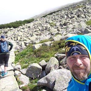 Martin a Jana Halamíčkovi na vrcholu Velký Šišák (18.7.2021 17:49)