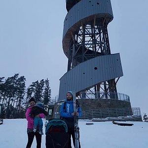 Martin Glouzar na vrcholu Velký Kosíř (31.1.2019 15:45)