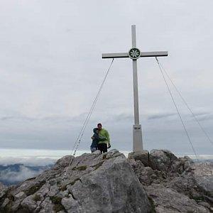 Mikeš na vrcholu Grosser donnerkogel (23.9.2018 14:00)