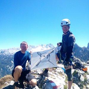 Martin na vrcholu Grosser Donnerkogel (6.7.2021 8:25)