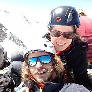 Pavla Lžičařová na vrcholu Schluchtkogel (16.6.2018 12:08)