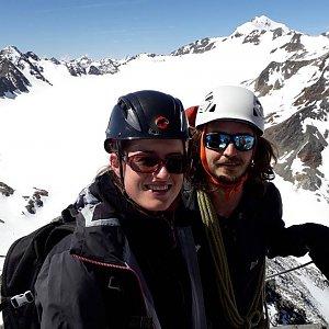 Pavla Lžičařová na vrcholu Linker Fernerkogel (15.6.2018 12:16)