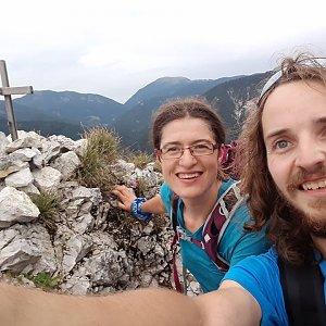 Pavla Lžičařová na vrcholu Nebria (3.9.2018 11:52)