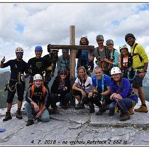 Jakub Fridex Fridrich na vrcholu Rotstock (4.7.2018 11:57)